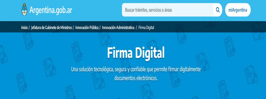 Firma Digital Argentina